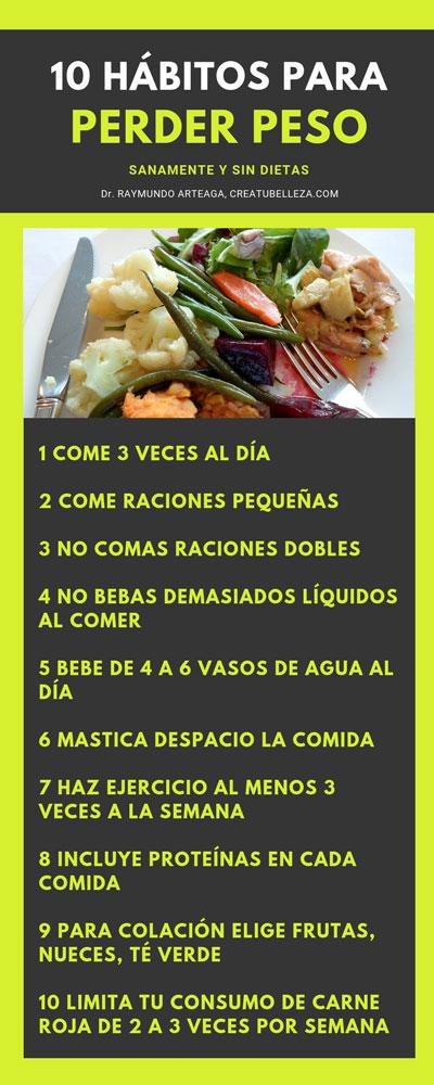 dieta saludable para bajar de peso 10 hábitos para bajar de peso sin dieta