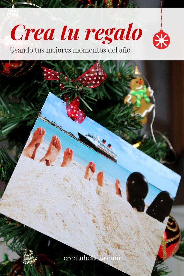 decoracion de arbol de navidad con fotos