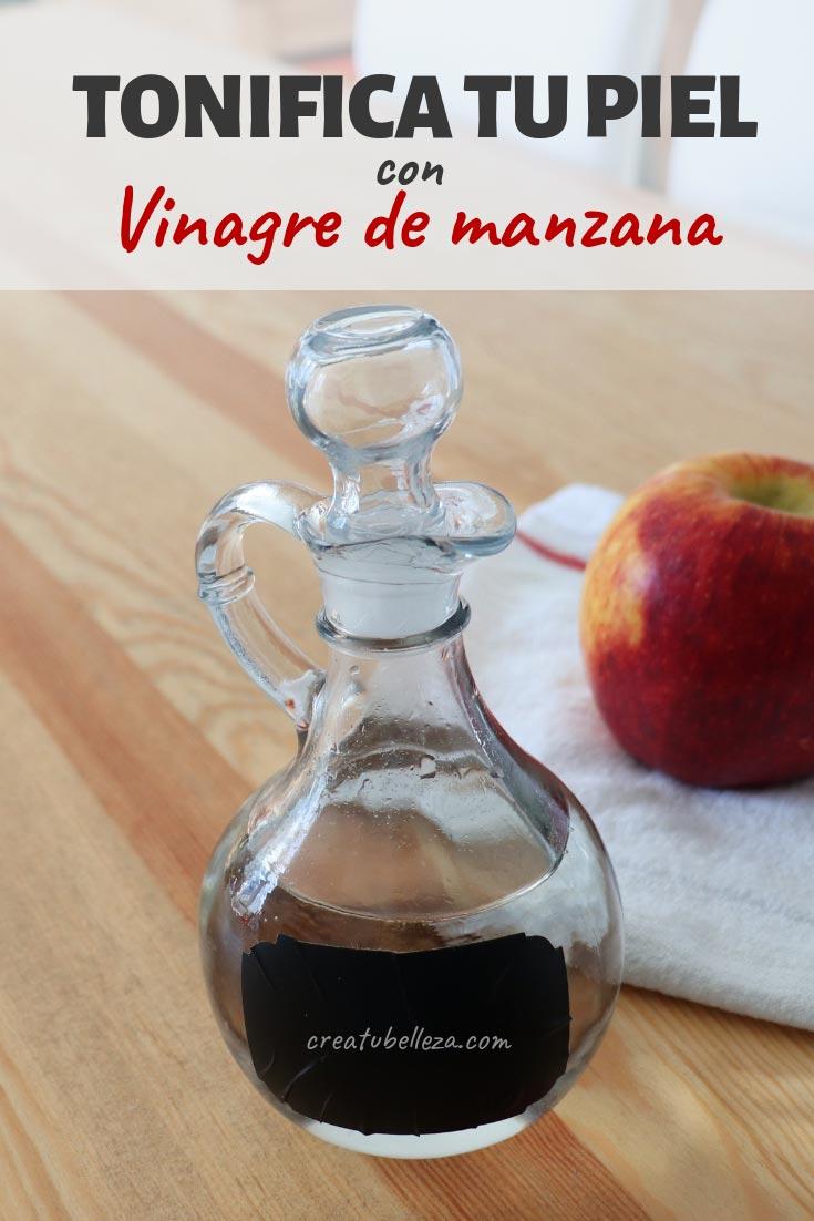 Loción de vinagre de manzana para tonificar el rostro naturalmente