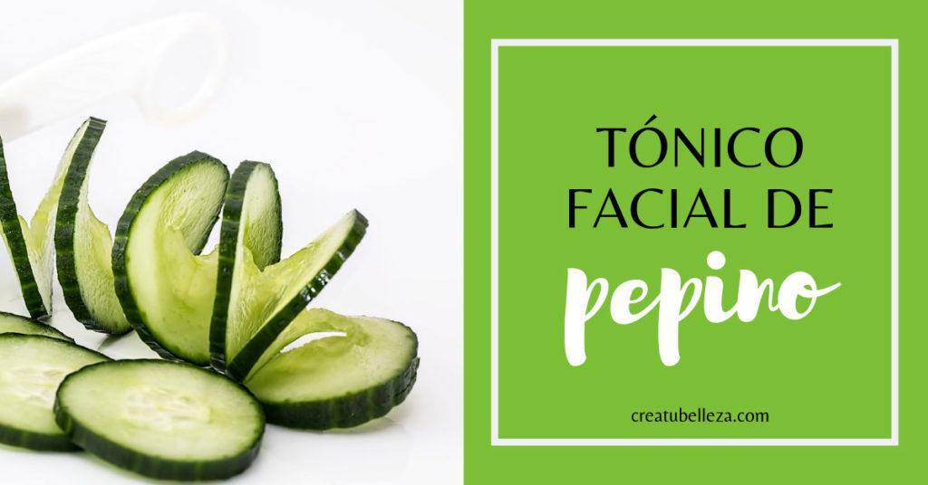 Cómo hacer un tónico facial casero de pepino