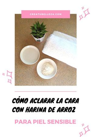 Cómo aclarar la cara con arroz piel sensible o manchada