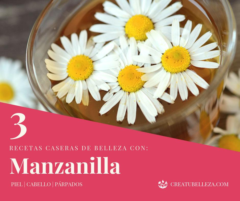 Recetas caseras de Belleza con Manzanilla para cabello y piel